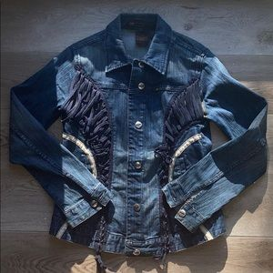 Vintage Parasuco Jean Jacket navy blue denim s: L